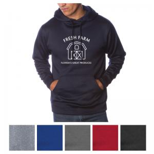 Independent Trading Company Men's Poly-Tech Pullover Hooded Sweatshirt
