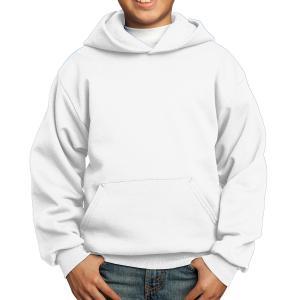 White Port & Company Youth Core Fleece Pullover Hooded Sweatshirt