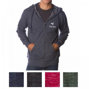 Independent Trading Company Men's Baja Stripe French Terry Zip Hood