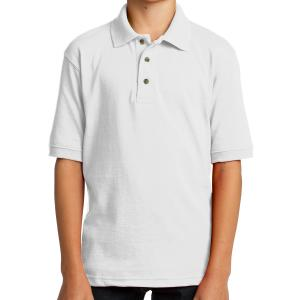 White Port & Company Youth Core Blend Jersey Knit Polo