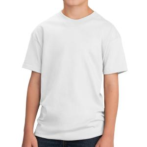 White Port & Company Youth Core Cotton T-Shirt