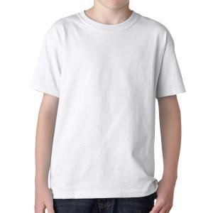 White Gildan Youth Heavy Cotton T-Shirt
