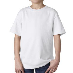 White Gildan Youth Ultra Cotton T-Shirt
