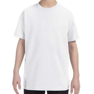 White Jerzees Youth Dri-Power Active T-Shirt