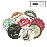 "Full Color 3.5"" Circle/ Square Medium Weight (70 PT) Pulpboard Coaster"