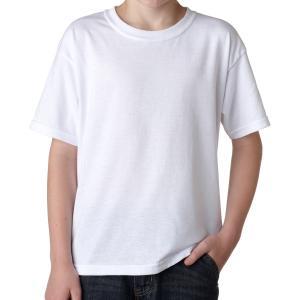 White Gildan Youth DryBlend T-Shirt