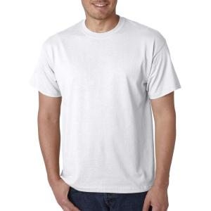 White Gildan DryBlend T-Shirt