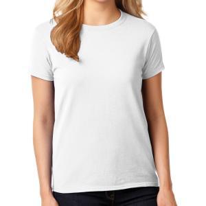 White Gildan Ladies' Heavy Cotton T-Shirt