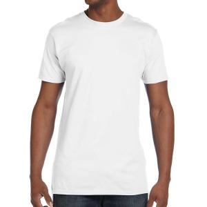 White Hanes Men's Nano-T Cotton T-Shirt