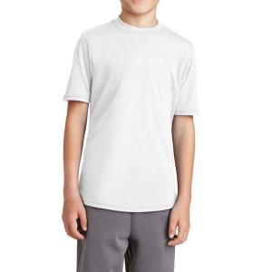 White Port & Company Youth Performance Blend Tee
