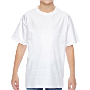White Hanes Youth Nano-T Cotton T-Shirt