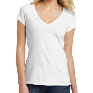 White District Juniors' Very Important Tee Deep V-Neck