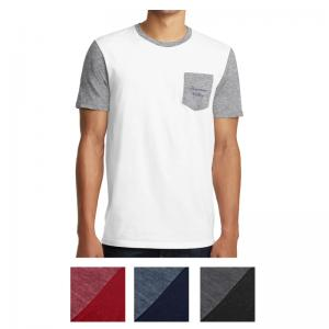 District Young Men's Very Important Tee With Contrast Sleeves And Pocket