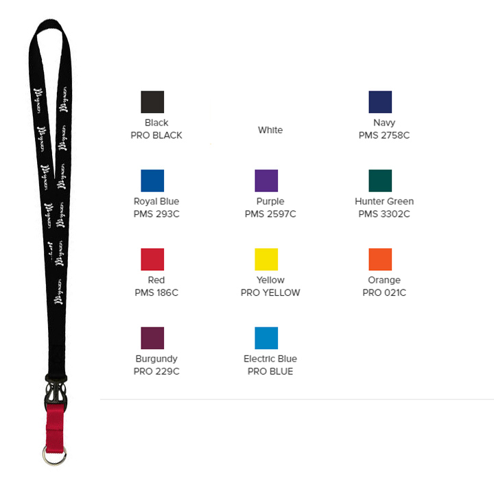 """3/4"""" Multi color (Top and Bottom) Nylon Lanyard with Plastic Slide Buckle Release"""