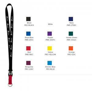"3/4"" Multi color (Top and Bottom) Nylon Lanyard with Plastic Slide Buckle Release"