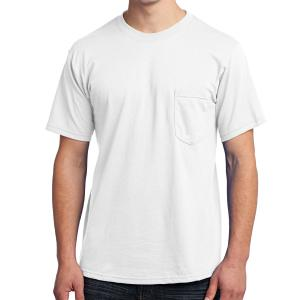 White Port & Company All-American Tee With Pocket