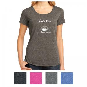 District Made Ladies' Tri-Blend Lace Tee