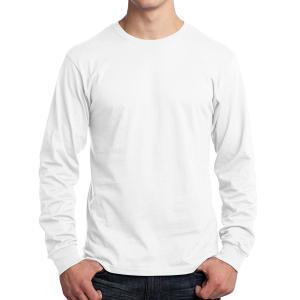 White Port & Company Long Sleeve Core Cotton T-Shirt