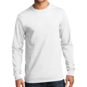 White Port & Company Long Sleeve Essential T-Shirt
