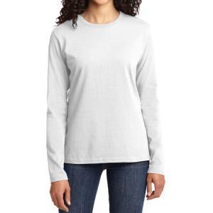 White Port & Company Ladies Long Sleeve Core Cotton Tee