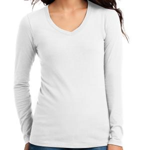 White District Juniors The Concert Tee Long Sleeve V-Neck