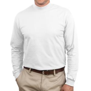 White Port & Company Essential Mock Turtleneck