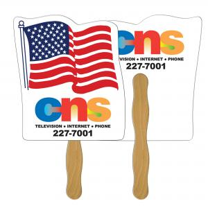 Flag Shaped Hand Fan
