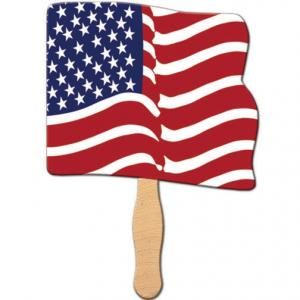 Full Flag Shaped Hand Fan