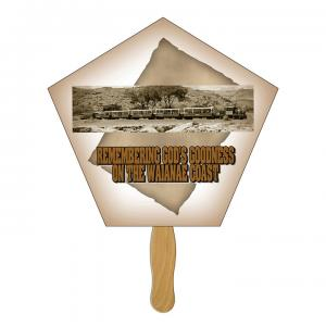 Pentagon / Church Shaped Hand Fan