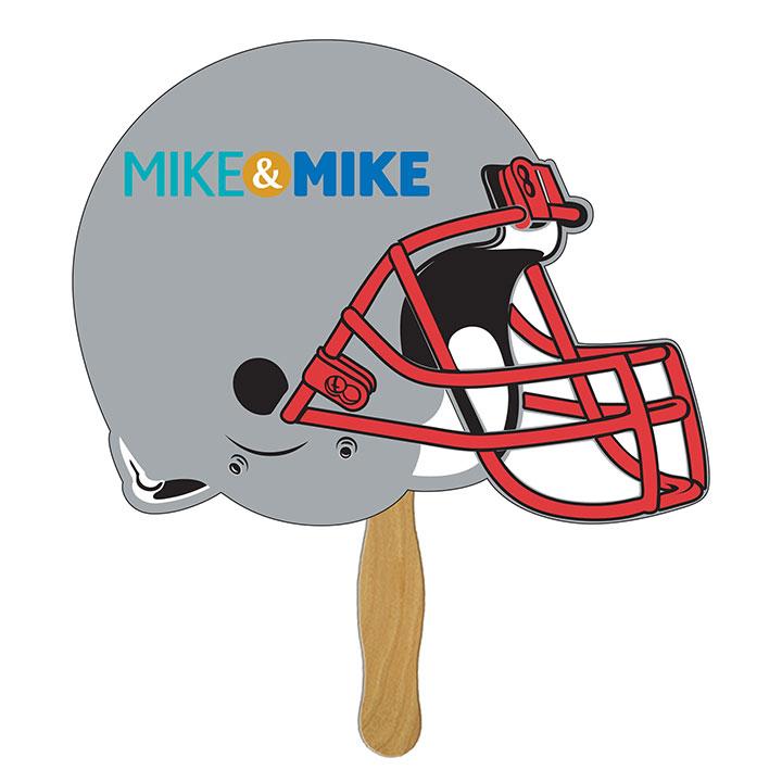 Detailed Helmet Shaped Hand Fan