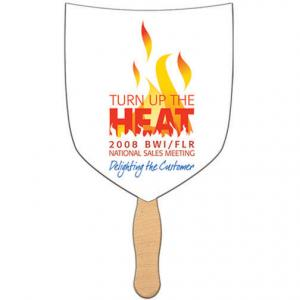 Shield or Shovel Shaped Hand Fan