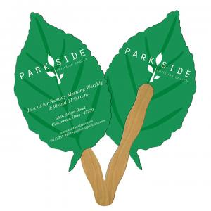 Leaf Shaped Hand Fan