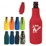 Bottle Koozie with O Zipper