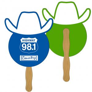 Cowboy Shaped Hand Fan