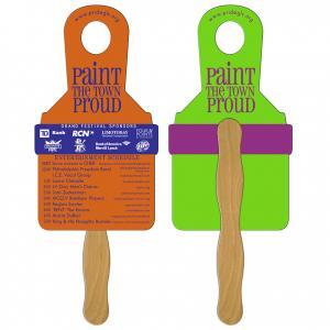 Paint Brush Hand Fan