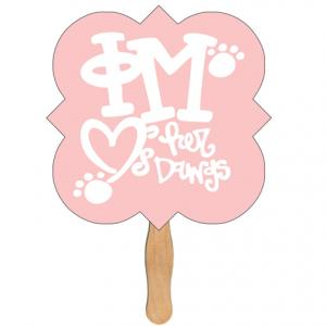Square Clover Shaped Hand Fan