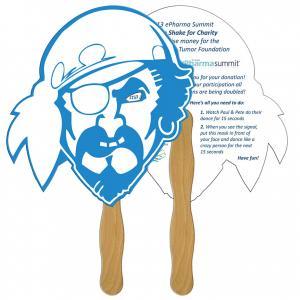 Pirate Shaped Hand Fan