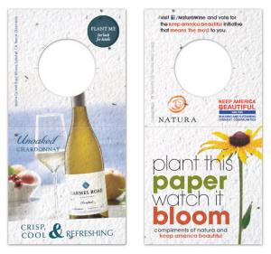 Square Seed Paper Wine Bottle Tag