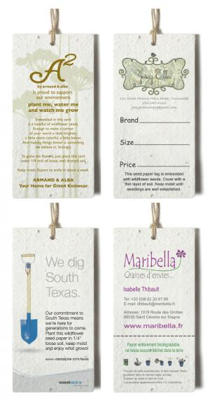 2 x 4 Medium Seed Paper Product Tag