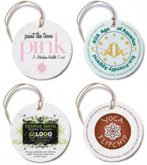 Circle Seed Paper Product Tag
