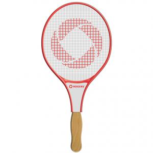 Racket Shaped Hand Fan