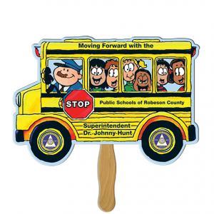 School Bus Shaped Hand Fan
