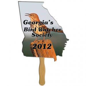 Georgia State Shaped Hand Fan