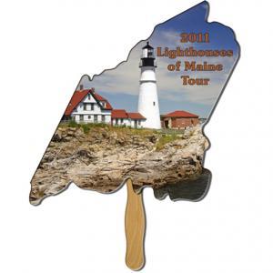 Maine State Shaped Hand Fan