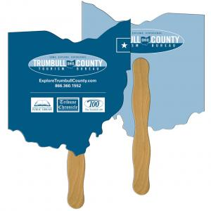 Ohio State Shaped Hand Fan