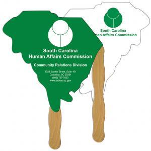 South Carolina State Shaped Hand Fan
