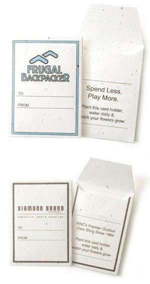 Seed Paper Gift Card Sleeve