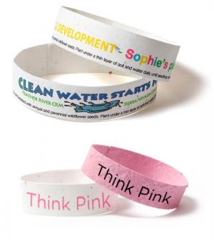 Seed Paper Wristband