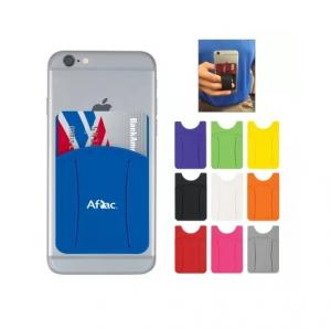 Silicone Adhesive Phone Wallet with Finger Grip