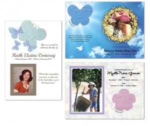 Seed Paper Shape Memorial Card